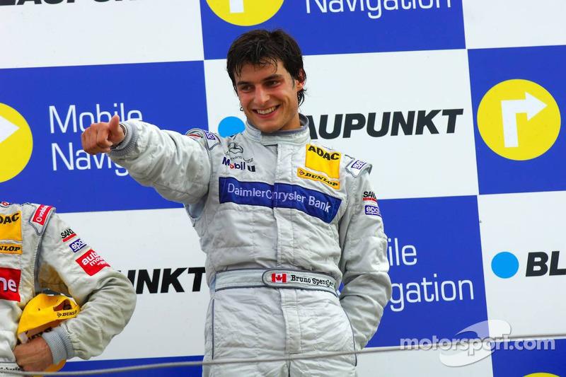 Podium: le vainqueur Bruno Spengler