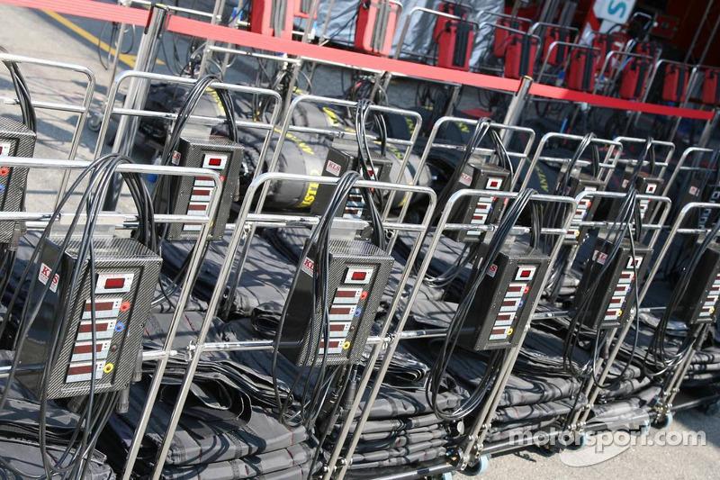 Equipement de chauffage des pneumatiques de la Scuderia Ferrari