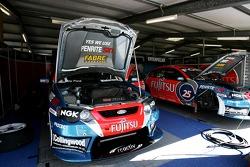 Fujitsu racing pit garage