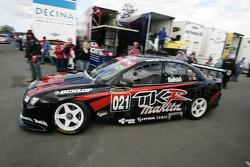 Paul Radisich leaves for pit lane