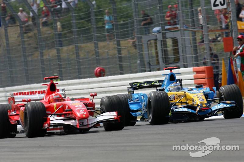 Michael Schumacher und Fernando Alonso