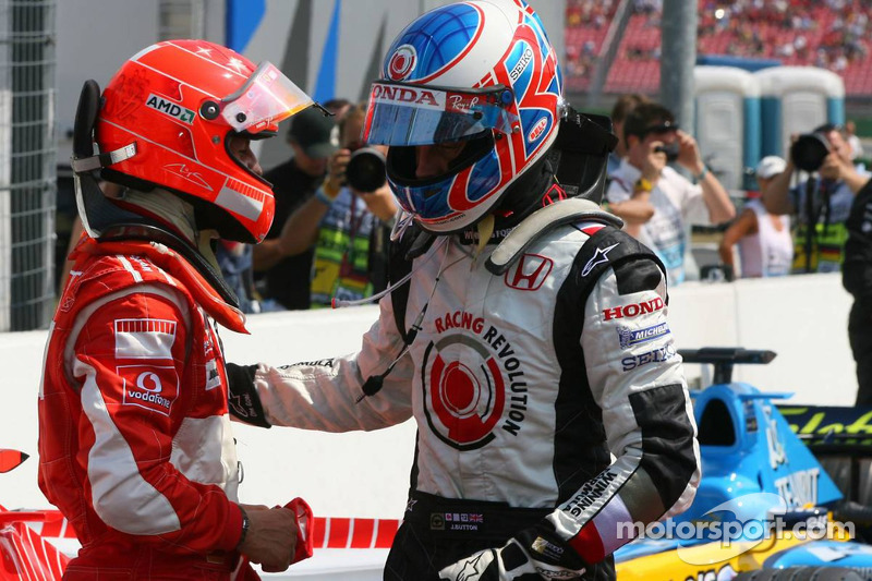 Michael Schumacher y Jenson Button