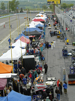 Over look of the pit area at Watkins Glen