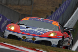 #62 Scuderia Ecosse Ferrari 430 GT2 LM: Nathan Kinch, Andrew Kirkaldy, Marino Franchitti