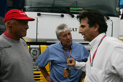 Niki Lauda, Herbie Blash and Nelson Piquet