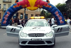 Running bulls rendez-vous in Budapest: the safety car