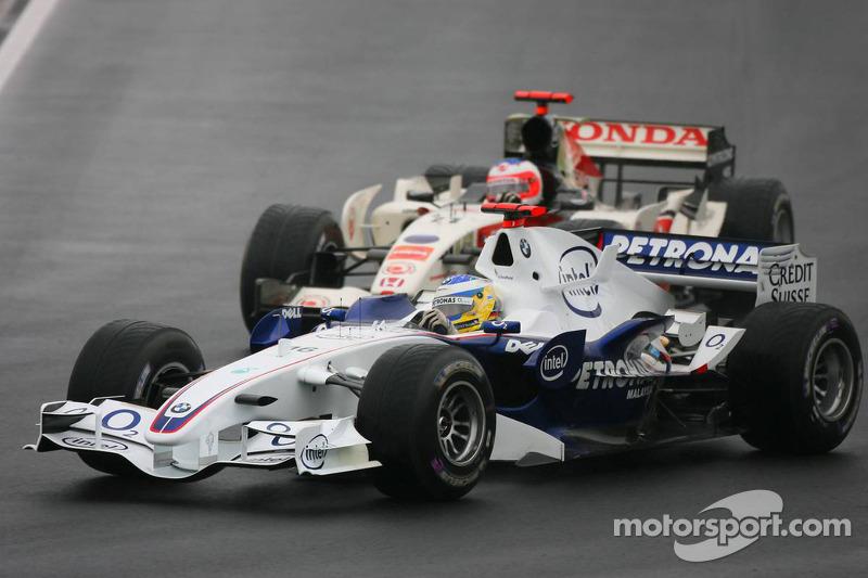 Nick Heidfeld y Rubens Barrichello