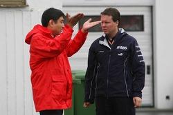 Hisao Suganuma, Bridgestone technical manager with Sam Michael