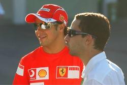 Felipe Massa with his manager Nicolas Todt