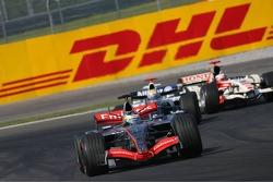 Pedro de la Rosa leads Mark Webber