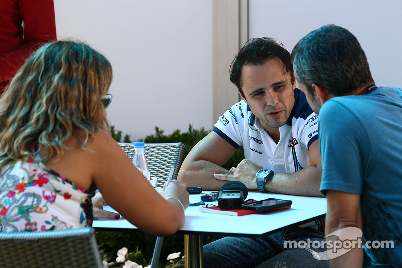 Felipe Massa, Williams, mit der Presse