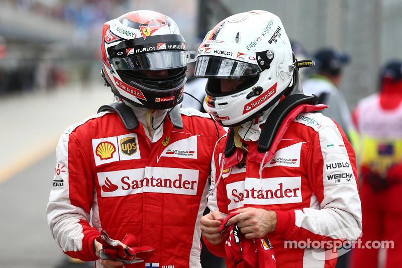 Kimi Räikkönen, Ferrari, und Sebastian Vettel, Ferrari