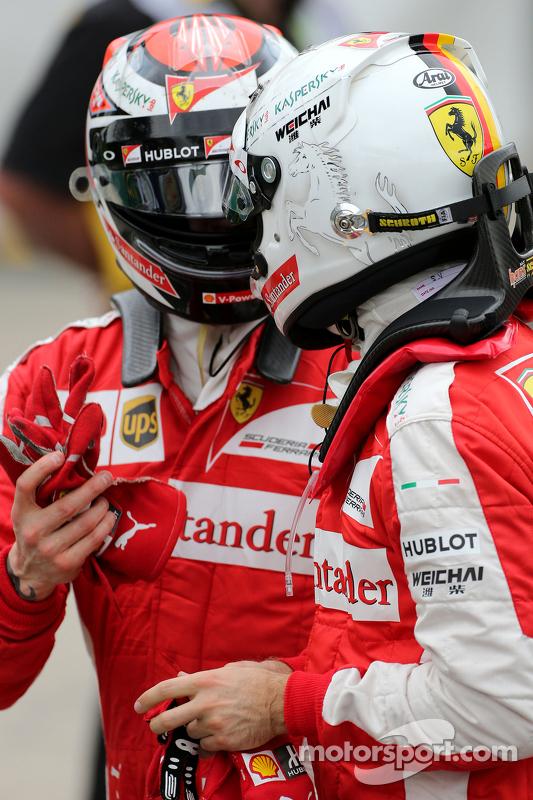 Sebastian Vettel, Scuderia Ferrari, und Kimi Räikkönen, Scuderia Ferrari