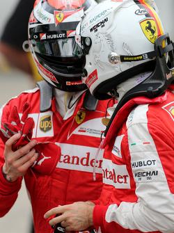 Sebastian Vettel, Scuderia Ferrari et Kimi Raikkonen, Scuderia Ferrari