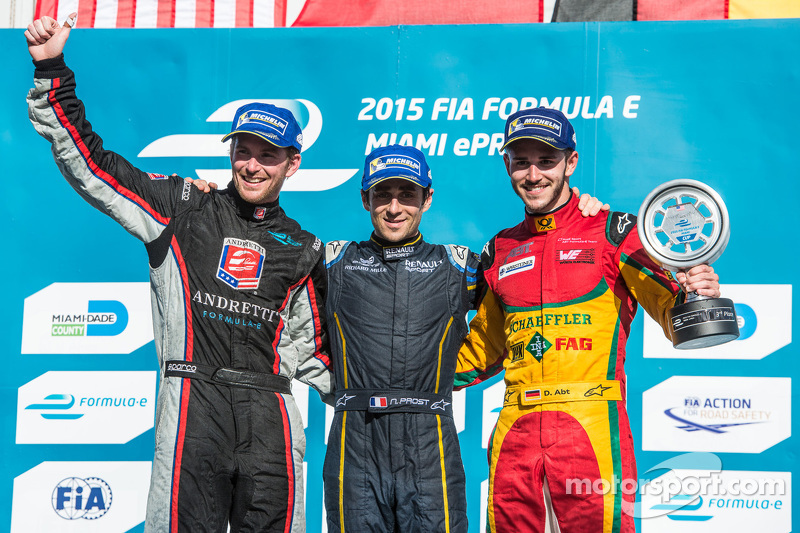 Podium: 1. Nicolas Prost, 2. Scott Speed, 3. Daniel Abt