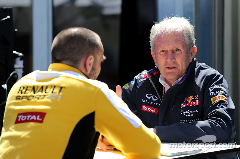 Cyril Abiteboul, Renault Sport and Dr Helmut Marko, Red Bull Motorsport Consultant