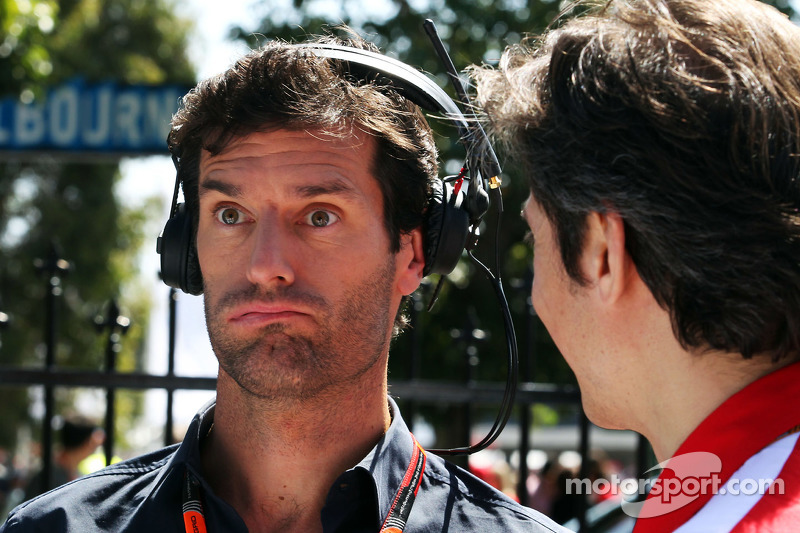 Mark Webber, Porsche Team WEC Driver bersama Massimo Rivola, Ferrari Sporting Director