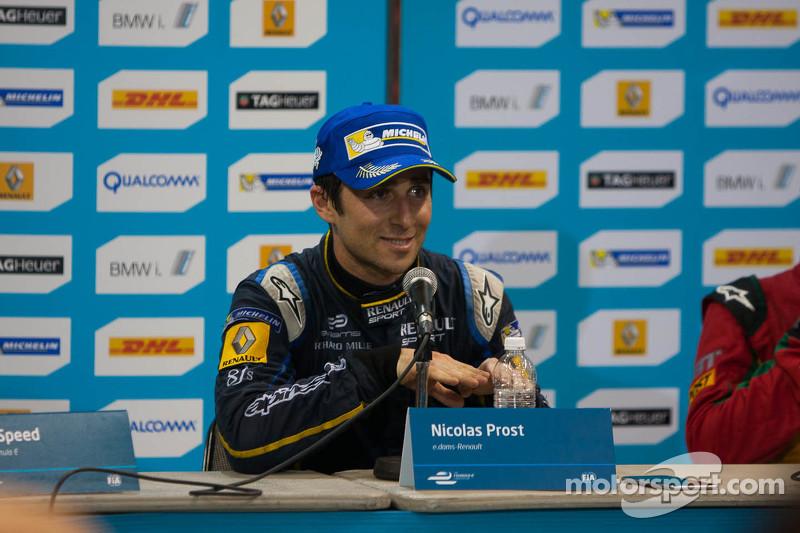 Post-race press conference: race winner Nicolas Prost