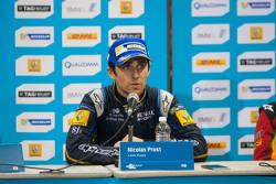 Post-gara conferenza stampa: vincitore Nicolas Prost, il secondo posto Scott Speed, il terzo posto Daniel Abt