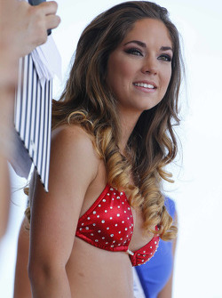 A lovely contestant in the famous Sebring Bikini Contest