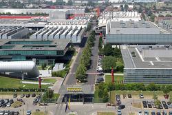 Blick über die Ferrari-Fabrik