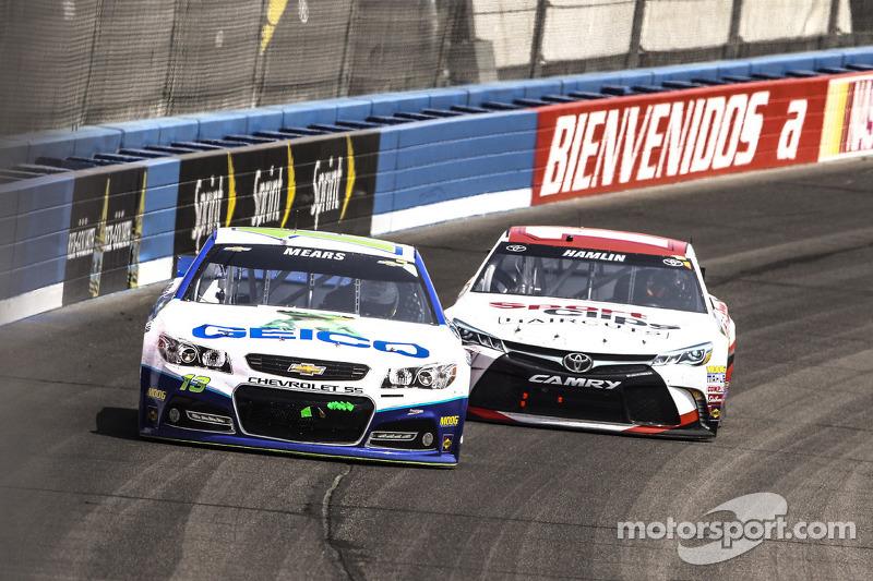 Кейсі Мірс, Germain Racing Chevrolet, Денні Хемлін, Joe Gibbs Racing Toyota