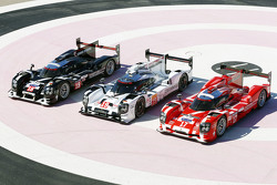 El Porsche 919 Híbrido 2015 se presenta en tres colores diferentes para Le Mans