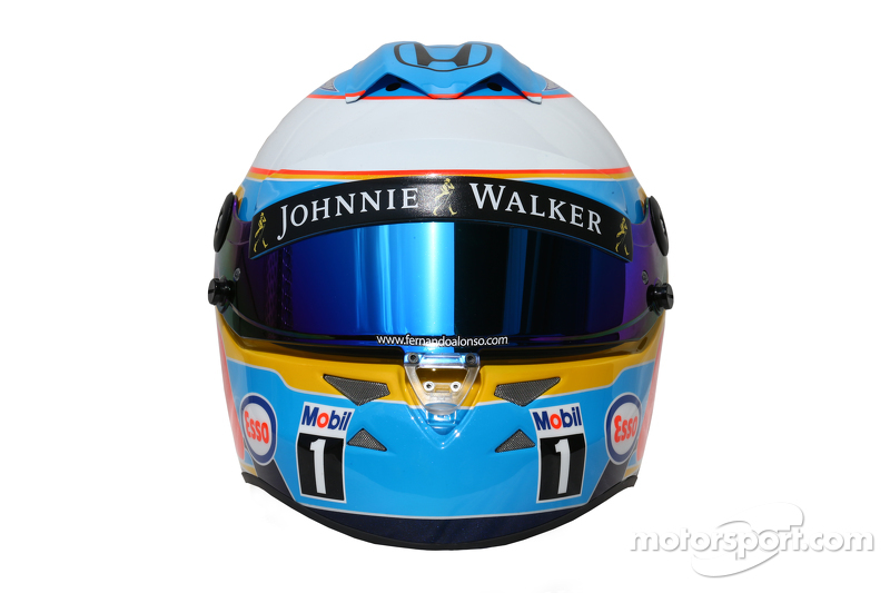 Casco de Fernando Alonso en 2015