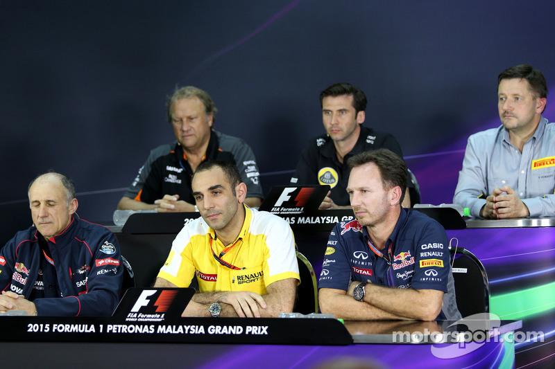 Cyril Abiteboul, Renault Sport F1, Christian Horner, Red Bull Racing, Sporting Director dan Franz Tost, Scuderia Toro Rosso, Team Principal