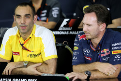 Cyril Abiteboul, Renault Sport F1 y Christian Horner, Red Bull Racing, Director Deportivo