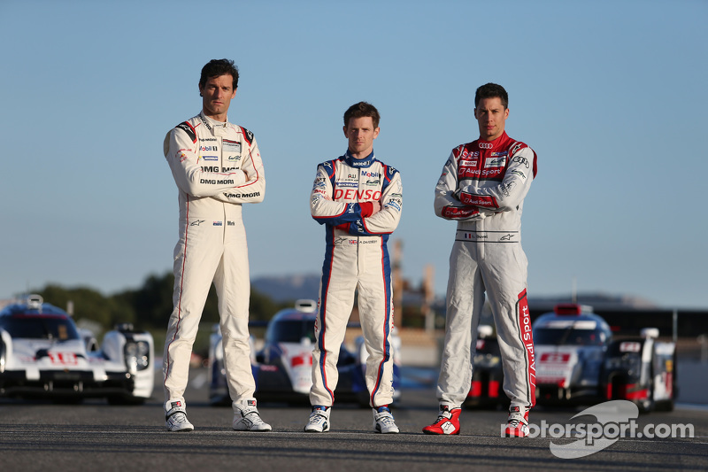 Mark Webber, Porsche Team, Anthony Davidson, Toyota Racing, Loic Duval, Audi Sport Team Joest
