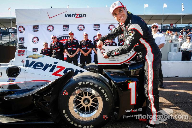 Pole-Sitter: Will Power, Team Penske, Chevrolet, feiert