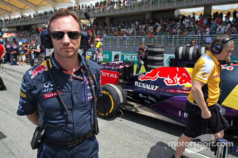 Christian Horner, Red Bull Racing Director del equipo en la parrilla