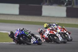Jorge Lorenzo, Yamaha Factory Racing y Andrea Dovizioso y Andrea Iannone, Ducati Team y Valentino Rossi, Yamaha Factory Racing