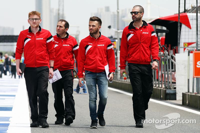Will Stevens, Manor F1 Team berjalan di sirkuit