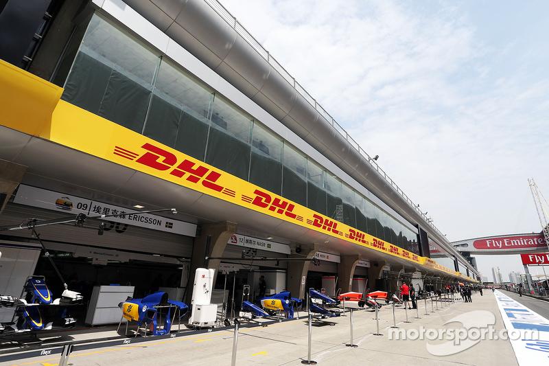 Sauber F1 Team pits