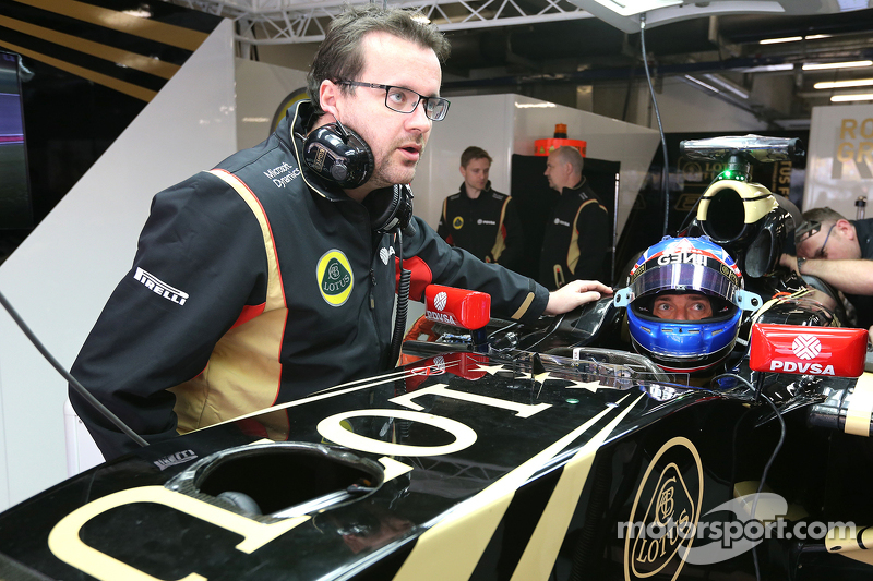 Jolyon Palmer, Lotus F1 Team y Julien Simon-Chautemps, ingeniero de carrera de Lotus F1