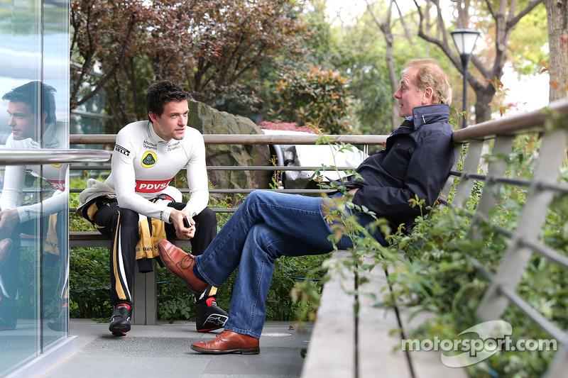 Jolyon Palmer, Lotus F1 Team y su padre, Johnathan