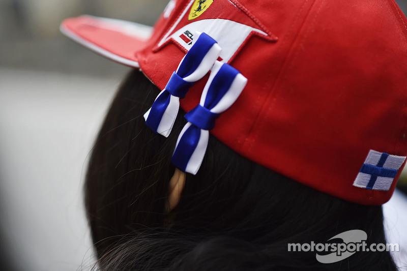 Un fan de Kimi Raikkonen de Ferrari