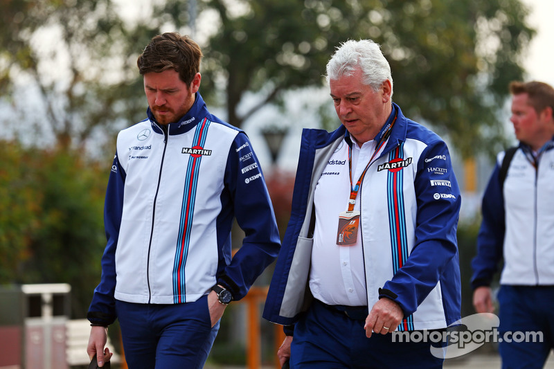 Rob Smedley, Williams, Leiter Fahrzeugperformance, mit Pat Symonds, Williams-Cheftechniker