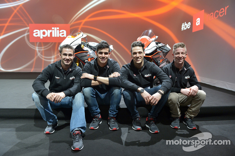 Leon Haslam, Aprilia Racing Team y Jordi Torres, Aprilia Racing Team