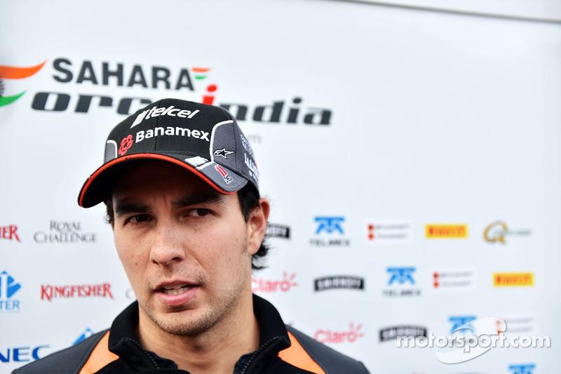 Sergio Pérez, Sahara Force India F1 con la prensa