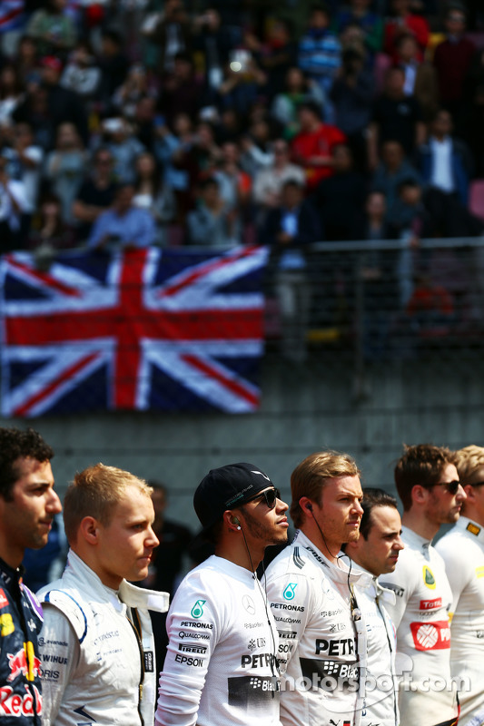 Lewis Hamilton, Mercedes AMG F1 di grid