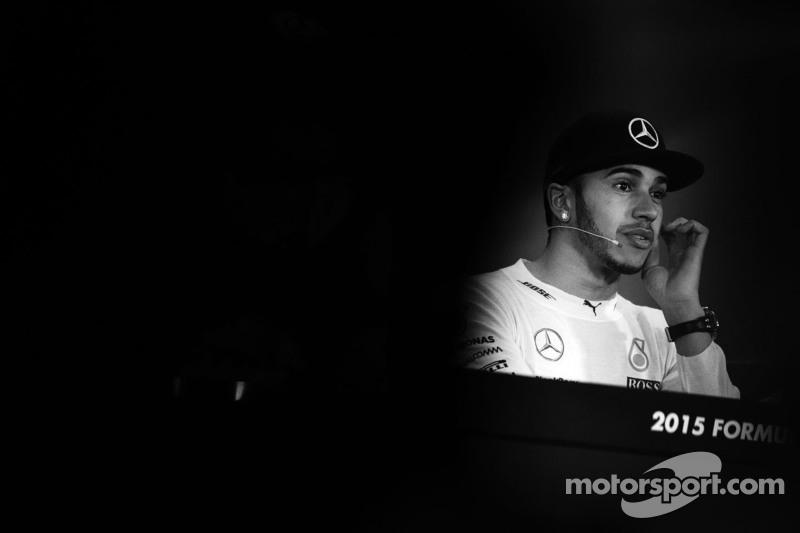 Lewis Hamilton Mercedes AMG F1 di FIA Press Conference