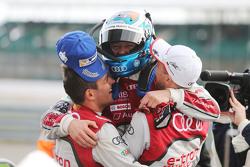 1.: #7 Audi Sport Team Joest, Audi R18 e-tron quattro: Marcel Fässler, André Lotterer, Benoit Tréluyer