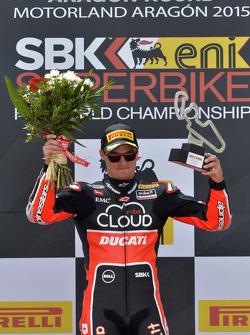 El ganador, Chaz Davies, Ducati Team, en el podium