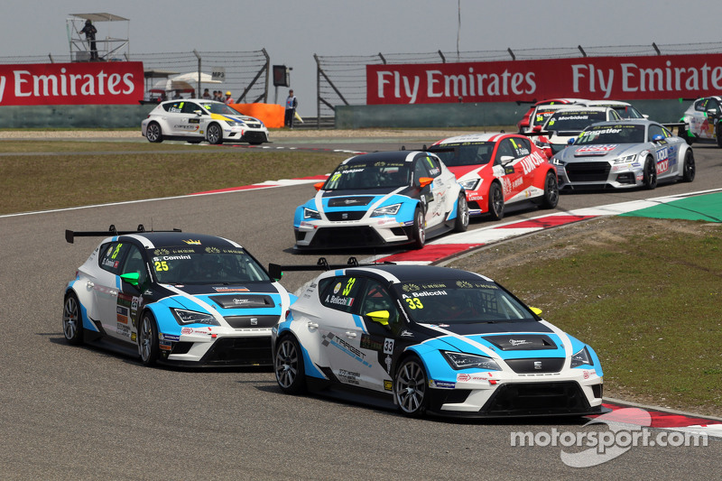 Andrea Belicchi, SEAT Leon Racer, Target Competition dan Stefano Comini, SEAT Leon Racer, Target Competition