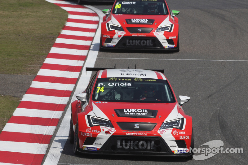 Pepe Oriola, SEAT Leon Racer, Team Craft-Bamboo LUKOIL, und Jordi Gene, SEAT Leon Racer, Team Craft-Bamboo LUKOIL