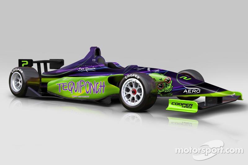 Picho Toledano's Indy Lights car