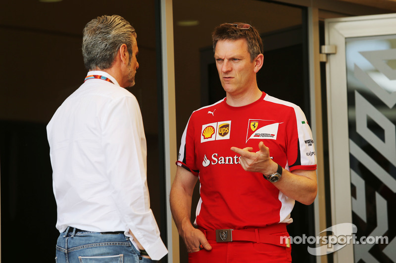 (Kiri ke Kanan): Maurizio Arrivabene, Ferrari Team Principal dengan James Allison, Ferrari Chassis Technical Director